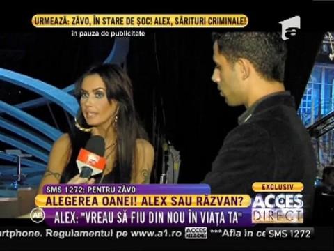 Criză de gelozie! Oana între Alex şi Răzvan