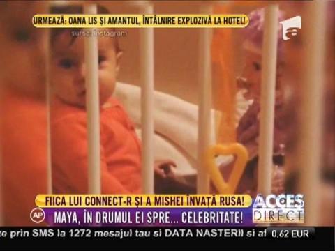 Fiica lui Connect-R şi a Mishei învață limba rusă