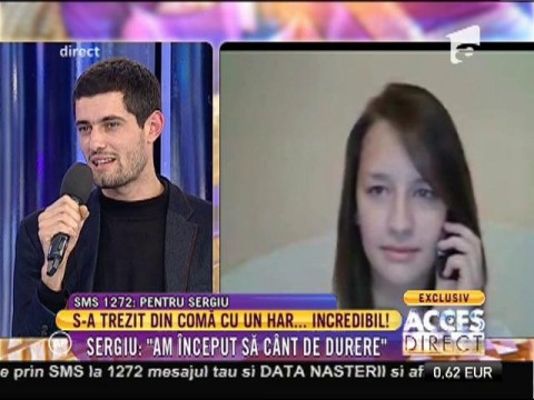 Concurentul X Factor, Sergiu Braga, declarație de dragoste unică