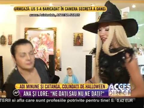Ana Mocanu şi Loredana Chivu, cu colindatul de Halloween