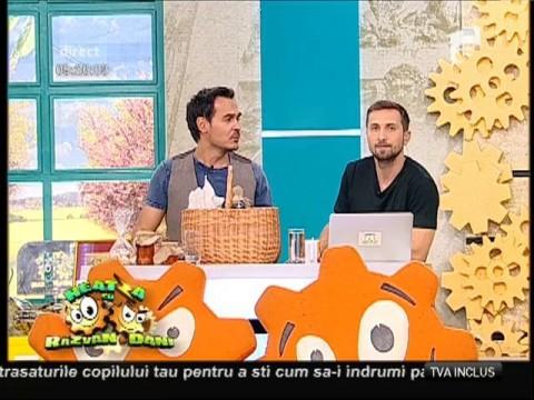 Razvan și Dani au primit un coș cu zacuscă și dulceață, prin Urgent Curier și Cargus!