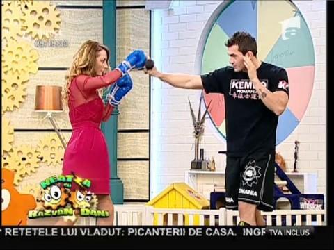 Flavia Mihășan, prima lecție de box