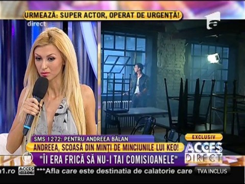 """Andreea Bălan: """"Lui Keo îi era frică să nu-i tai comisioanele!"""""""