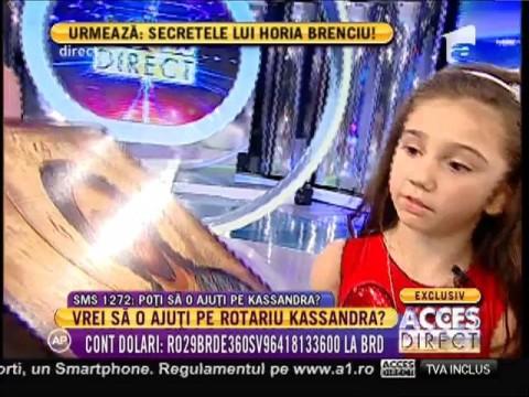 """Kassandra: """"Nu mi-e frică de operații. Sunt o luptătoare"""""""