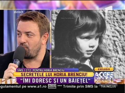 """Horia Brenciu: """"Vreau să am o relație specială cu viitorul meu fiu"""""""