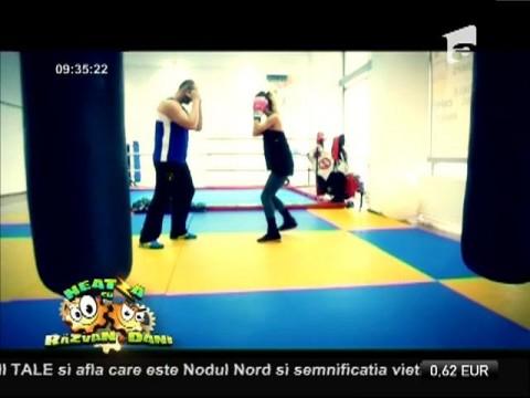 Flavia Mihăşan a urcat în ringul de kickbox!
