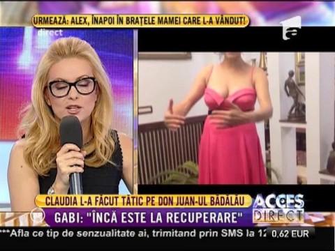 Claudia Pătrăşcanu şi logodnicul ei, Gabi Bădălău, au devenit părinţi