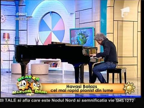 Live! Cel mai rapid pianist din lume, show muzical la Neatza