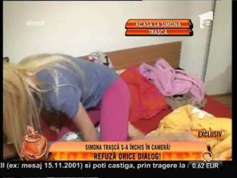 Simona Traşcă s-a închis în cameră! Blonda nu vrea să comunice cu nimeni!