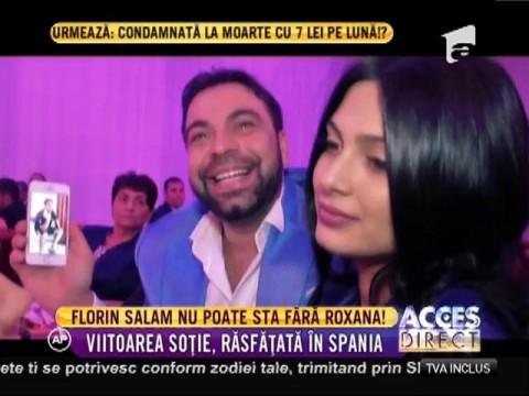 Florin Salam nu poate sta fără Roxana