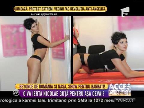 Beyonce de România și nașa, show pentru bărbați