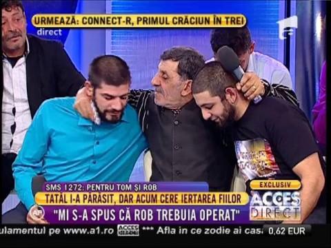 Vor avea motive să râdă şi azi? Tom şi Rob sau Constantin şi Florin îşi strigă tatăl!