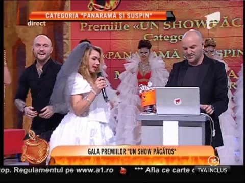 """Gala Premiilor Un Show Păcătos! Mariana Calfa, premiul I la categoria """"Panaramă şi suspin"""""""