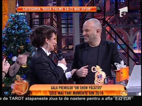 """Gala Premiilor Un Show Păcătos! Mara Bănică, premiul I la categoria """"Două palme să-ţi mai spun"""""""