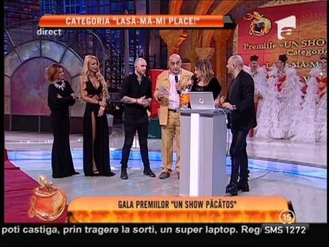 """Gala Premiilor Un Show Păcătos! Oana şi Viorel Lis, premiul I la categoria """"Lasă-mă-mi place!"""""""