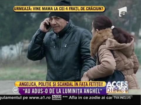 Angelica Constantin, poliţie şi scandal în faţă fetiţei!