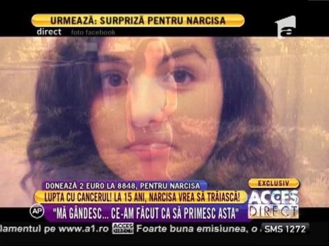 Lupta cu cancerul! La 15 ani, Narcisa vrea să trăiască!