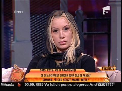 """Simona Trașcă: """"Îi cer scuze mamei mele pentru că am fugit fără să o anunț"""""""