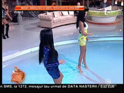 Daniela Crudu și Andreea Tonciu, dans lasciv