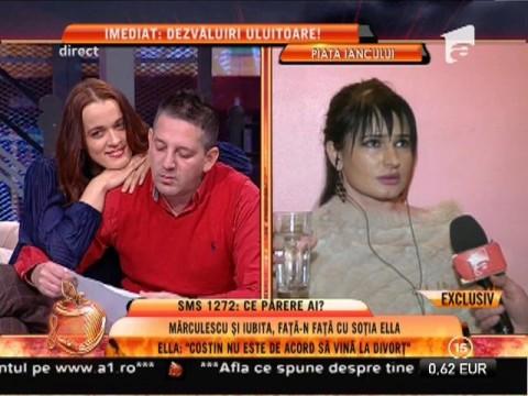 """Ella: """"Îl aștept pe Costin Mărculescu la divorț"""""""