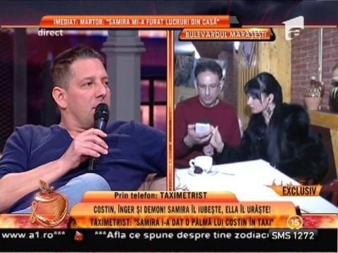 """Taximetrist: """"Samira i-a dat o palmă lui Mărculescu în taxi"""""""