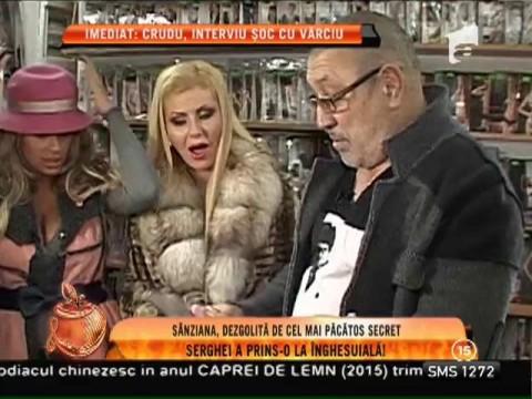 Sanziana Buruiană și Serghe Mizil, prinși la sex shop!