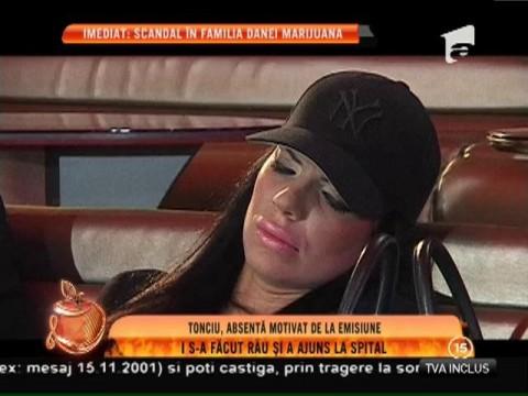 Andreea Tonciu a ajuns de urgenţă la spital!
