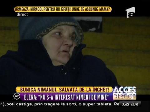 Bunica care trăia într-un patinoar, salvată de la îngheț