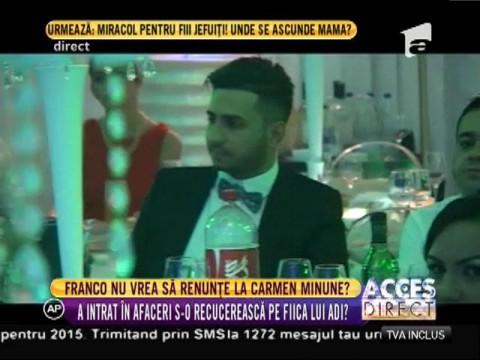 Franco vrea să renunțe la Carmen Minune?