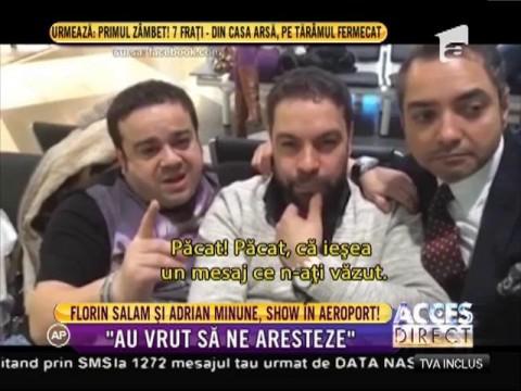 Adrian Minune şi Florin Salam, show în aeroport