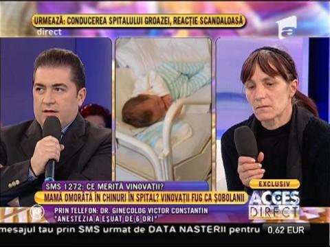 """Doctorul care s-a ocupat de tânără decedată la naștere: """"Anestezia a eșuat de 6 ori!"""""""