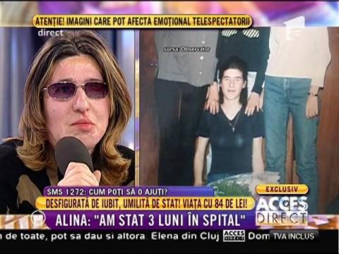 """Alina, tânăra mutilată pe viaţă de iubit: """"Primesc mesaje de amenințare în continuare!"""""""