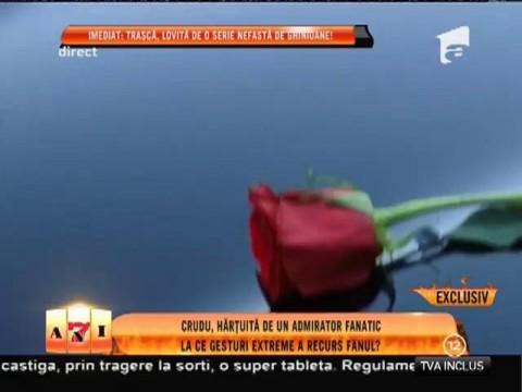 Daniela Crudu, hărţuită de un admirator fanatic!