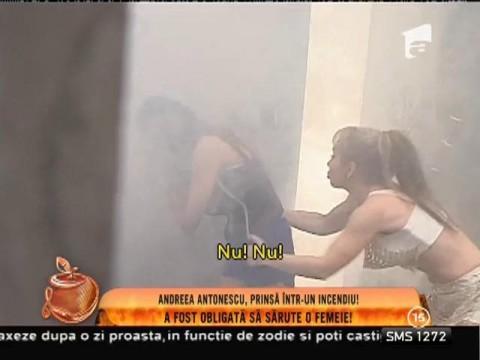Andreea Antonescu, prinsă într-un incendiu!