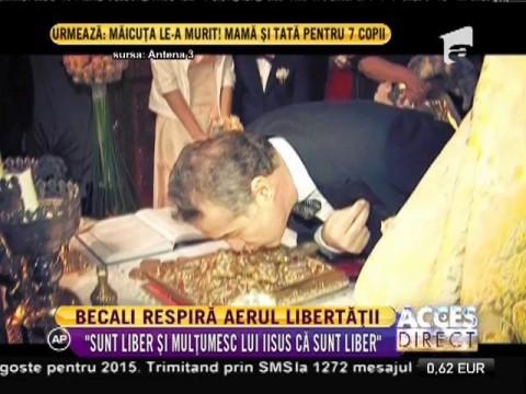 Gigi Becali a fost eliberat