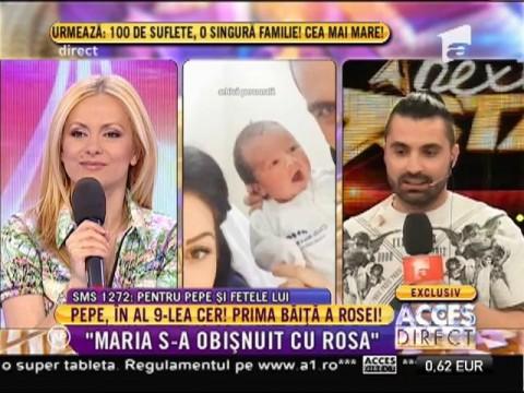 Pepe, în al 9-lea cer! Prima băiță pentru Rosa Alexandra!