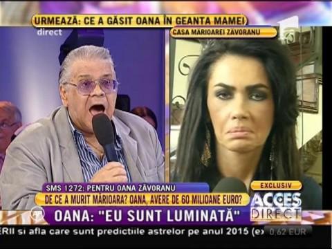 """Oana: """"Mă gândesc să o incinerez pe Mărioara Zăvoranu"""""""