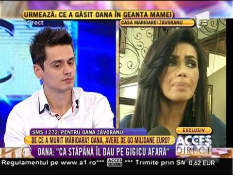 """Oana Zăvoranu, declarații șocante: """"Ca stăpână îl dau afară pe Gigicu!"""""""