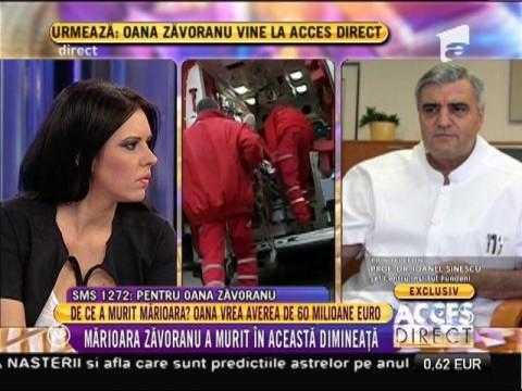 """Dr. Ioanel Sinescu, șeful clinicii de chirurgie de la Fundeni: """"Mărioara a pierdut lupta cu boala pentru că resursele biologice s-au epuizat"""""""