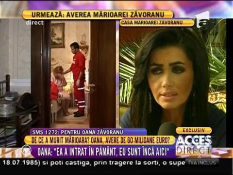 """Oana Zăvoranu, declarații și gesturi incredibile: """"Mărioara a intrat în pământ, eu sunt încă aici!"""""""
