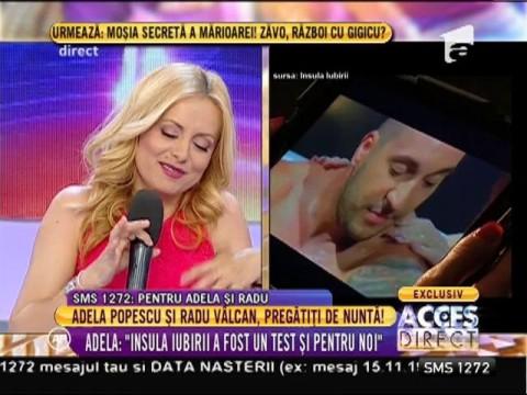 Adela Popescu şi Radu Vâlcan, pregătiţi de nuntă