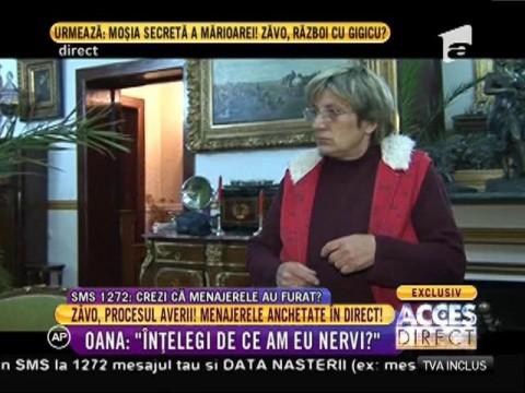 Oana Zăvoranu, faţă în faţă cu menajerele mamei sale!
