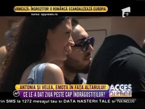 Antonia şi Alex Velea, emoţii mari în faţa altarului
