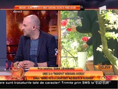 """Oana Zăvoranu: """"Mama îşi dorea să fie incinerată!"""""""