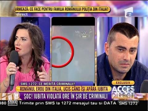 Ultimele imagini cu eroul român ucis în Italia