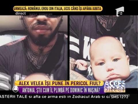 Fanii lui Alex Velea susţin că acesta îşi pune copilul în pericol