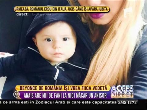 Beyonce de România îşi vrea fiica vedetă