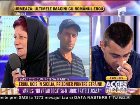 Eroul ucis în Sicilia, prizonier printre străini