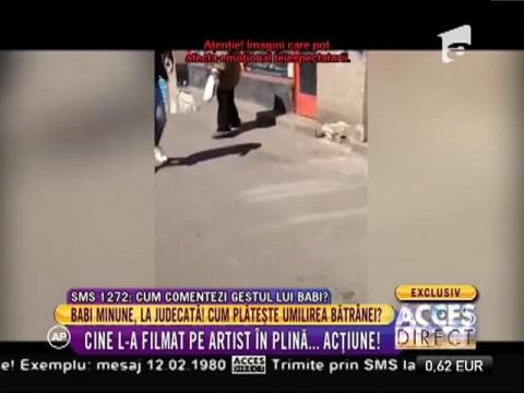 Manelistul Babi Minune, filmat în timp ce agresa şi umilea o femeie a străzii!