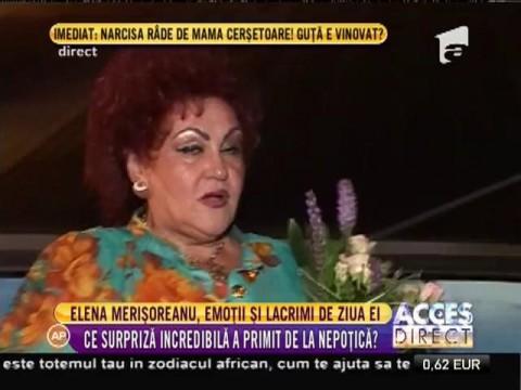 Elena Merişoreanu, emoții și lacrimi de ziua ei